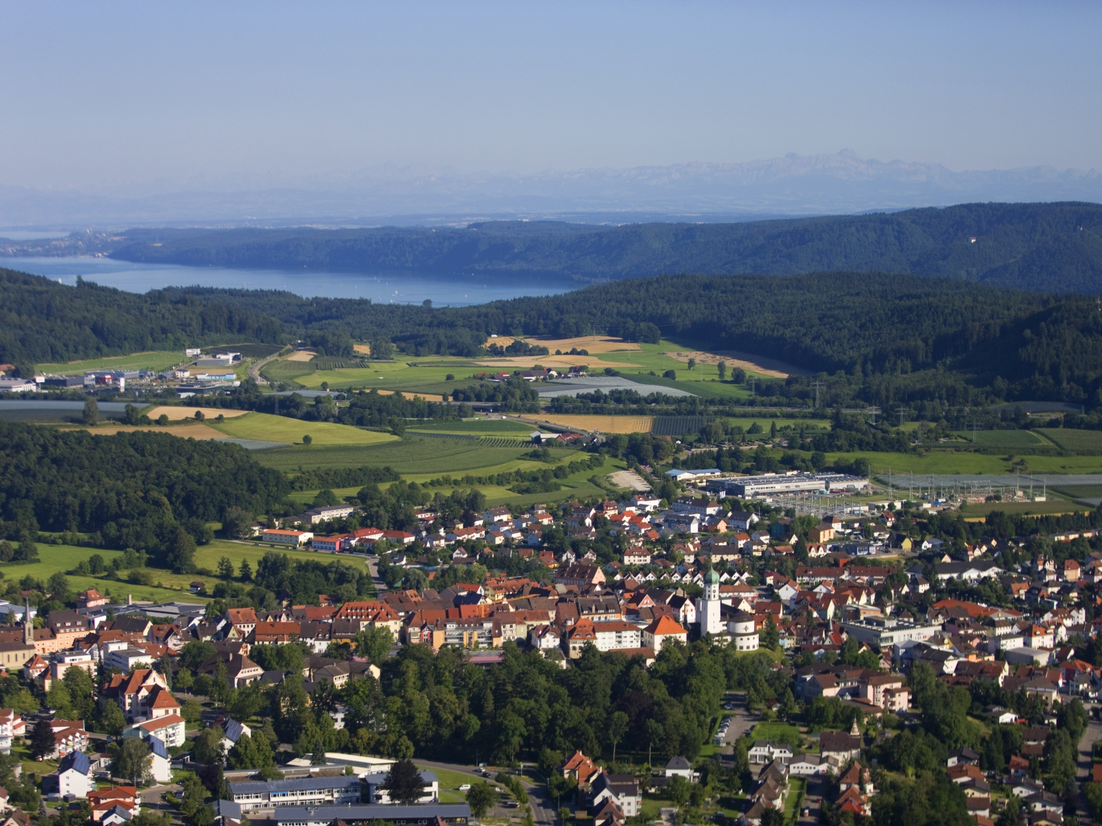 View from Stockach to the Lake Constance